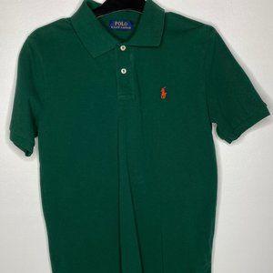 Ralph Lauren Dark Green Boy's Polo - Youth L 14-16